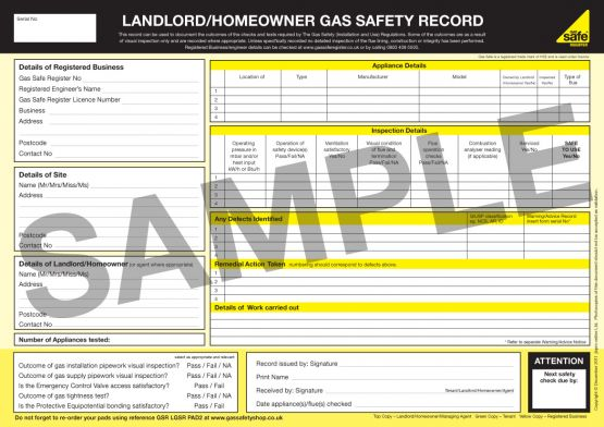 What is a gas safety check